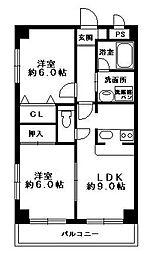 メゾン・ドファミーユ[305号室]の間取り