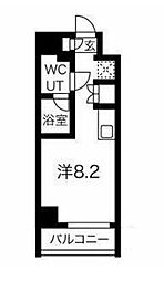 JR京浜東北・根岸線 大井町駅 徒歩8分の賃貸マンション 4階ワンルームの間取り