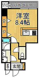 プランTAT西宮江上町 3階ワンルームの間取り