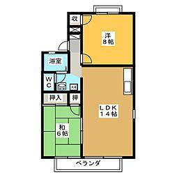 セジュール小林[1階]の間取り