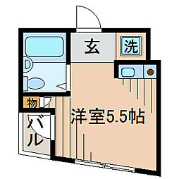 グリタァ六角橋[310号室]の間取り