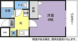 キュービック119[1階]の間取り
