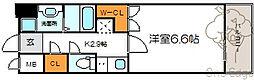 メロディア新北野[6階]の間取り