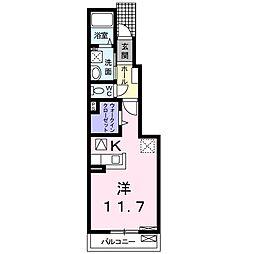 サンライズ プレイス[1階]の間取り