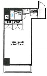 東京都中央区日本橋箱崎町の賃貸マンションの間取り