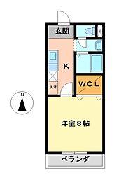 コンフォート小鴨[1階]の間取り