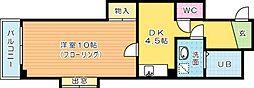 ルミエールKYII[5階]の間取り