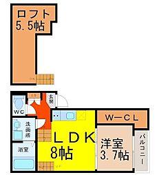 ハーモニーテラス鳴海IV(ハーモニーテラスナルミフォー)[1階]の間取り