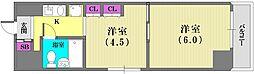 ネオアージュ神戸元町[5階]の間取り