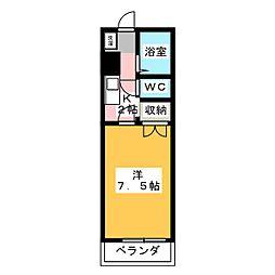 レジデンス佐々木[1階]の間取り