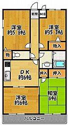 ハイツサンマルコ 3階4DKの間取り