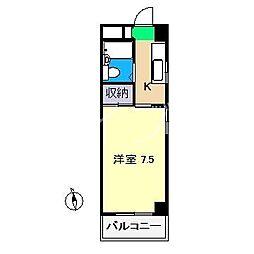 コーポ新田(北新田)[3階]の間取り