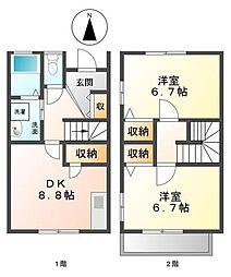 テラスハウス樋口[1階]の間取り