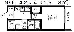 グランパシフィック北畠[802号室号室]の間取り
