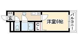 愛知県名古屋市名東区香南1丁目の賃貸マンションの間取り