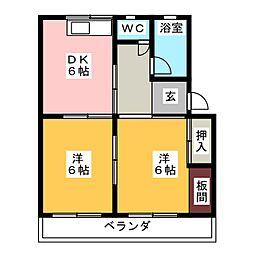 コーポ桂[2階]の間取り