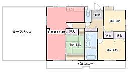浜甲子園さくら街8号棟[6階]の間取り
