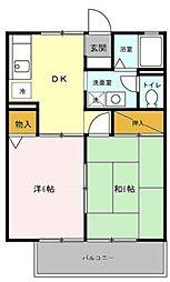 ポルク5[2階]の間取り