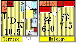 [テラスハウス] 東京都足立区江北3丁目 の賃貸【/】の間取り