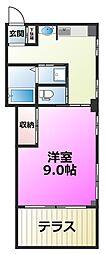 山一鹿浜マンション[101号室]の間取り