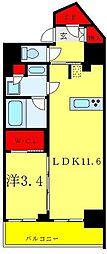 リビオメゾン御茶ノ水 5階1LDKの間取り