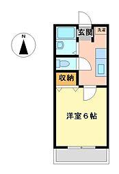 サニーヴィラ 11b[2階]の間取り