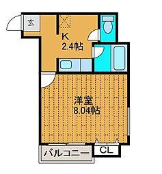リ・ズィエール[4階]の間取り