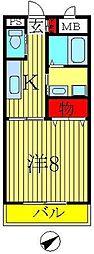 フォアサイトYUKI[205号室]の間取り