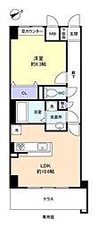 ベルファミーユ高根台III[1階]の間取り
