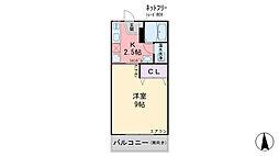 福岡県糸島市高田2丁目の賃貸マンションの間取り