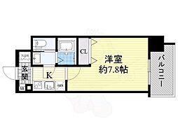 エスリード新大阪CONFORT 1番館 1階1Kの間取り