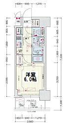 ララプレイス大阪新町ヴェレ 9階1Kの間取り