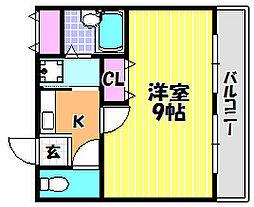 サンコークレアール[4階]の間取り