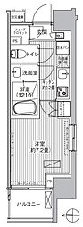 ヒューリックレジデンス新御茶ノ水 12階1Kの間取り