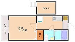 コーポクレイン[2階]の間取り