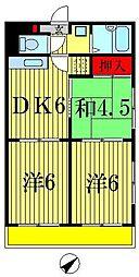 ハイツ松戸III[2階]の間取り