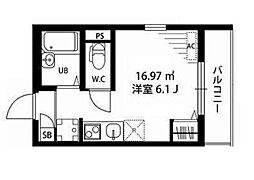東京都江東区大島2丁目の賃貸マンションの間取り