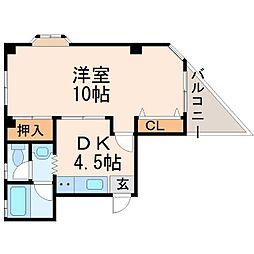 北本マンション[2階]の間取り