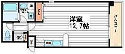 コンフォートレジデンス御堂筋本町[6階]の間取り