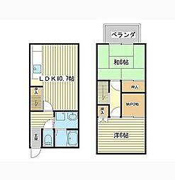 [テラスハウス] 兵庫県姫路市飾磨区妻鹿 の賃貸【/】の間取り