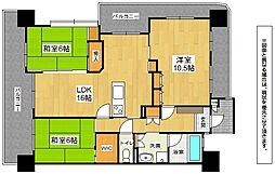 福岡県北九州市小倉南区志徳2丁目の賃貸マンションの間取り