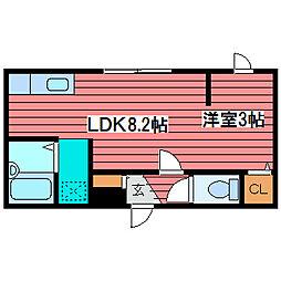 北海道札幌市豊平区月寒東一条10丁目の賃貸アパートの間取り