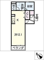 仮)D−room大平町[2階]の間取り