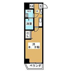 BPRレジデンス下高井戸 8階1Kの間取り