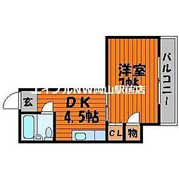 エバグリーン磨屋町[2階]の間取り