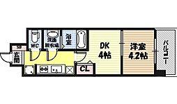 ビガーポリス346京橋II 3階1DKの間取り
