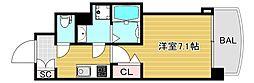 セレニテ日本橋プリエ 6階1Kの間取り