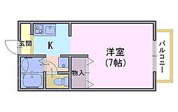 ロココ・テン[1階]の間取り
