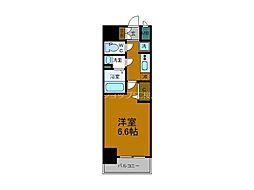 Osaka Metro中央線 阿波座駅 徒歩5分の賃貸マンション 6階1Kの間取り