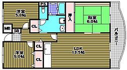 プレスト・コート壱番館[3階]の間取り